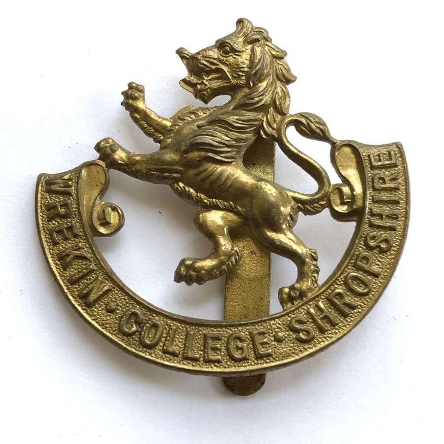 Wrekin College OTC Shropshire cap badge