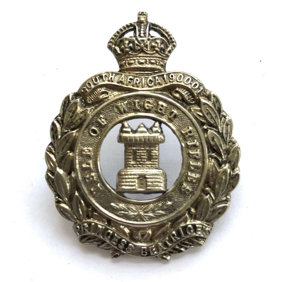 Isle of Wight Rifles post 1908bcap badge