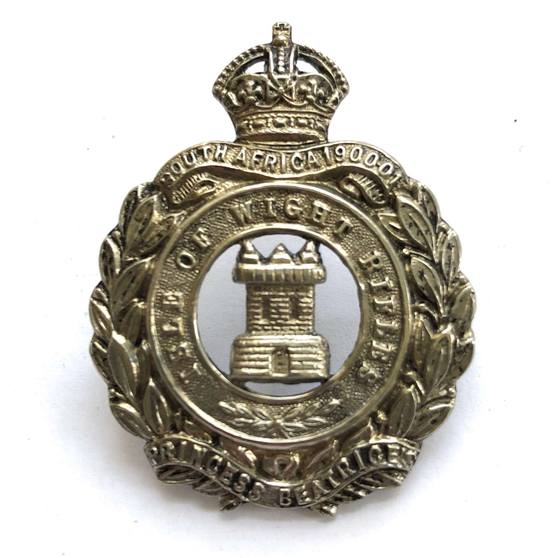 Isle of Wight Rifles post 1908bcap badge