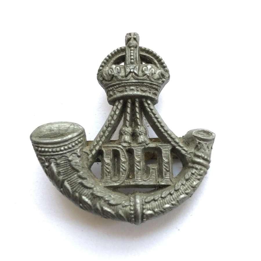 Durham Light Infantry WW2 plastic economy DLI cap badge