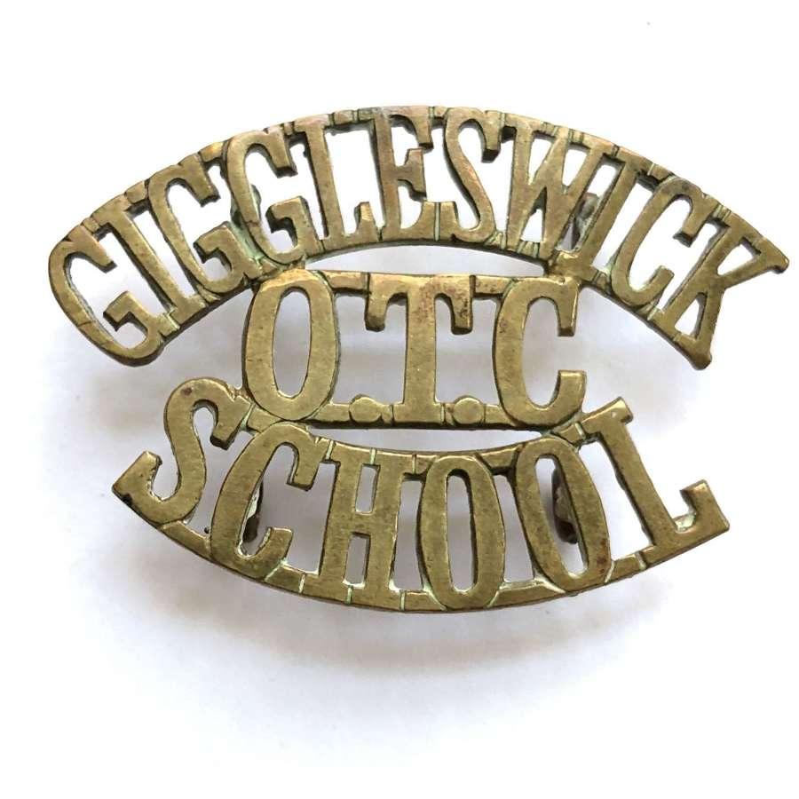 GIGGLESWICK / OTC / SCHOOL York shoulder title cica 1908-40