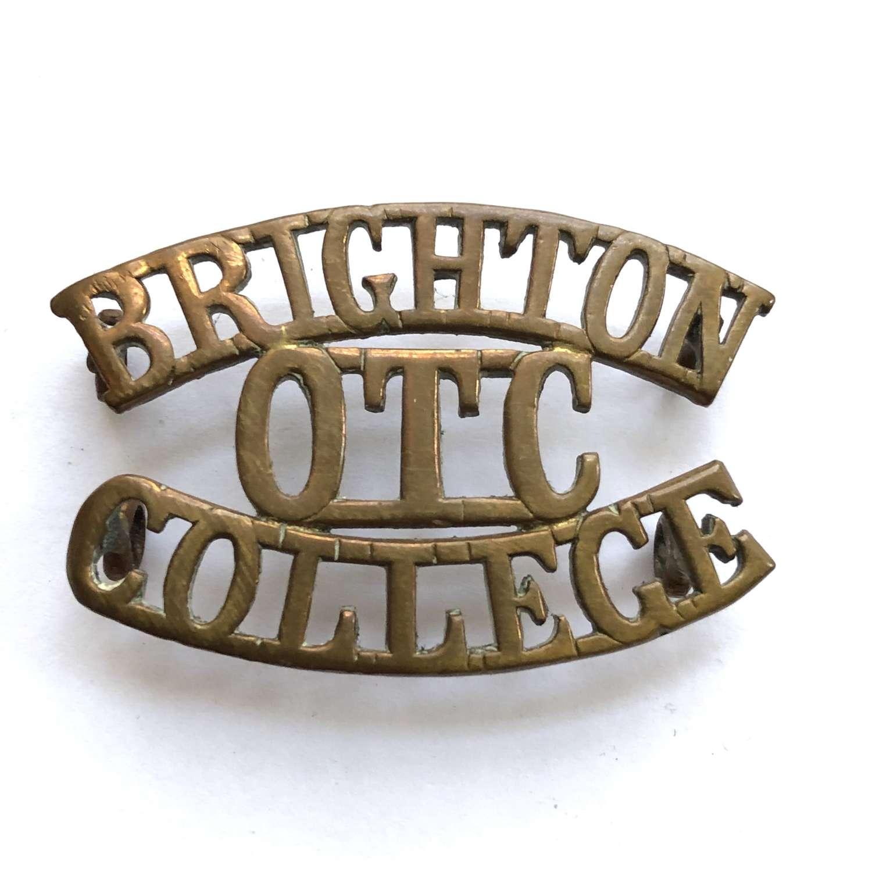 BRIGHTON / OTC / COLLEGE Sussex shoulder title circa 1908-40