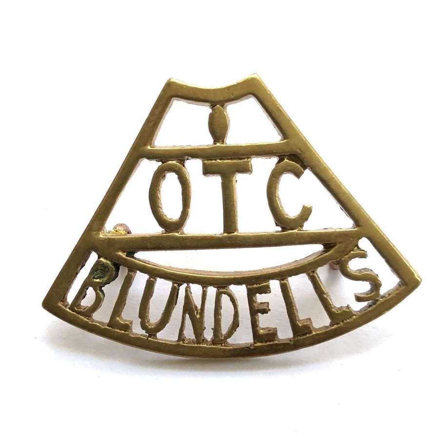 OTC / BLUNDELL Tiverton shoulder title circa 1908-40