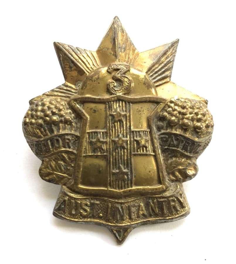3rd Australian Infantry Regiment Slouch Hate badge circa 1900-1912