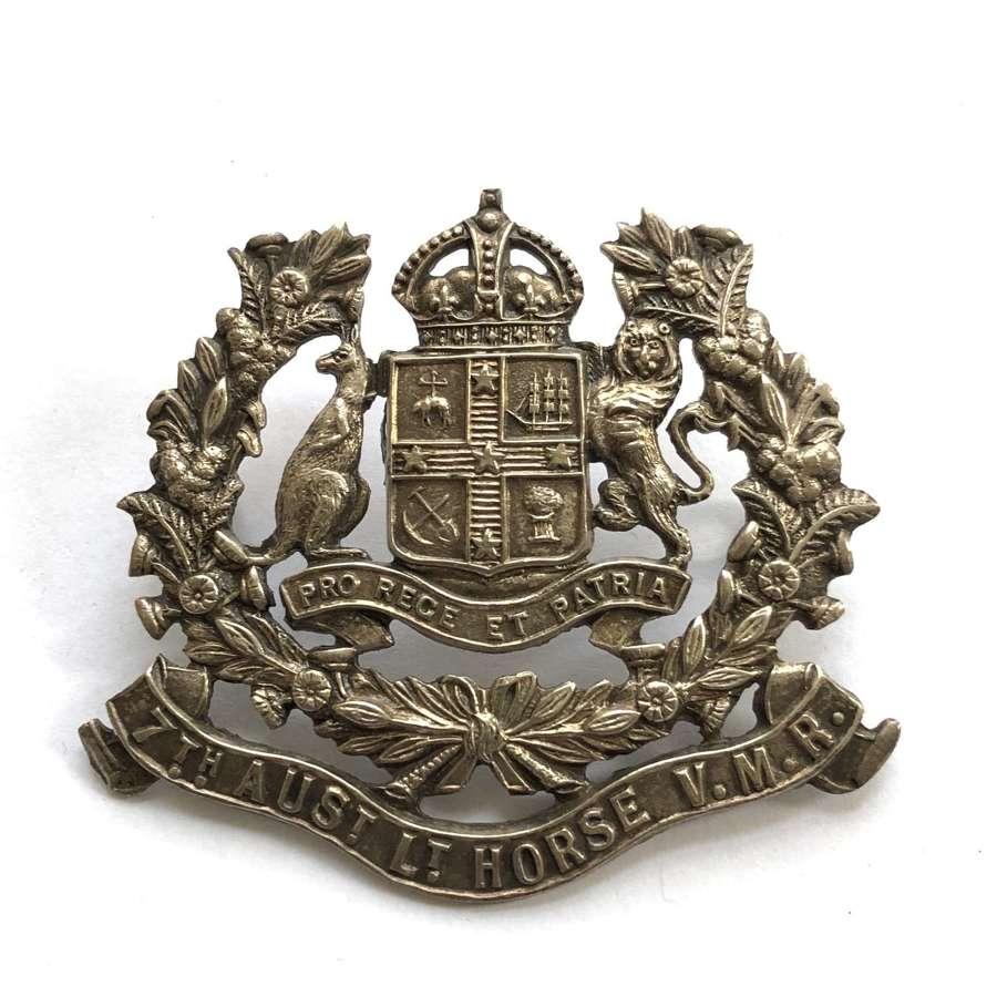 7th  Australian Light Horse Regiment Slouch Hat badge circa 1901-1912