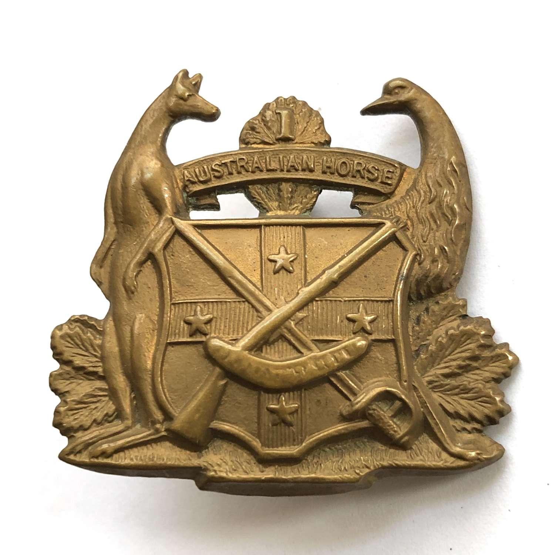 1st Australian Volunteer Horse Slouch Hat badge c1897-1903