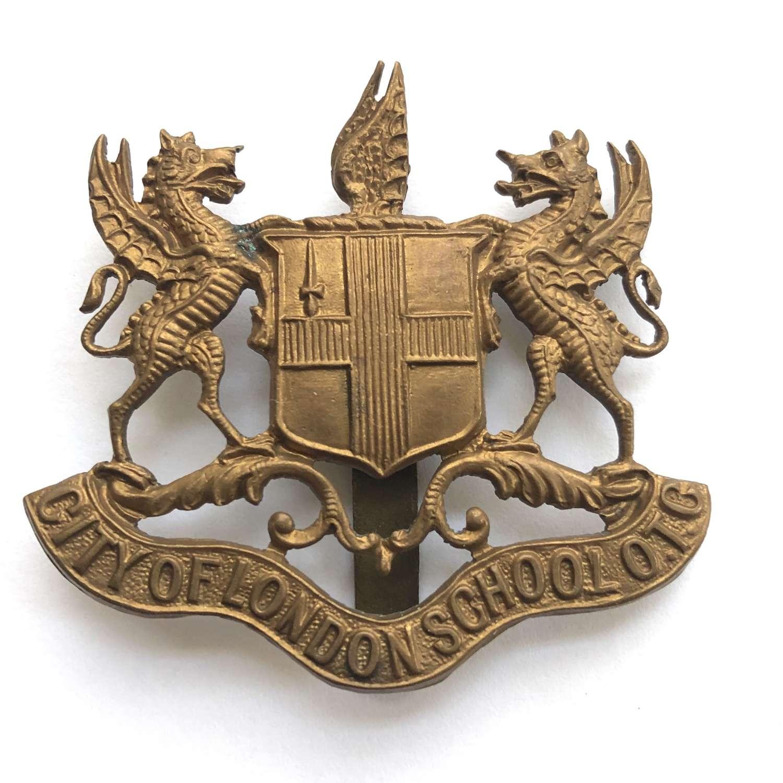 City of London School OTC brass cap badge