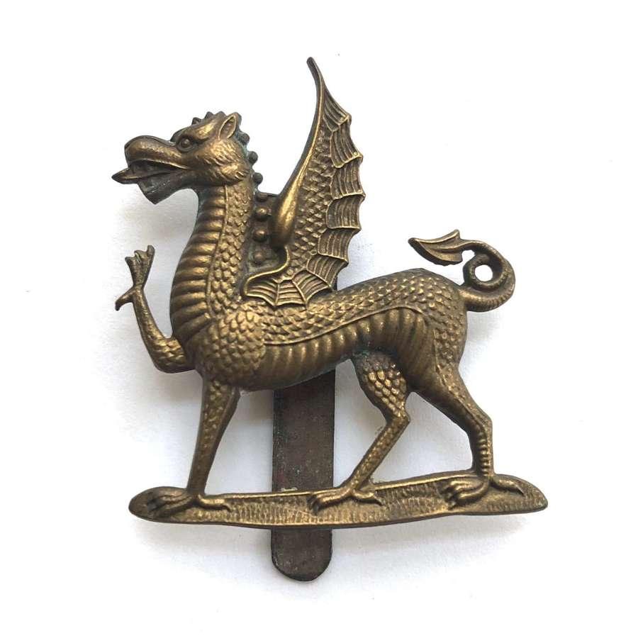 Welsh. Monmouth School OTC 2nd pattern cap badge