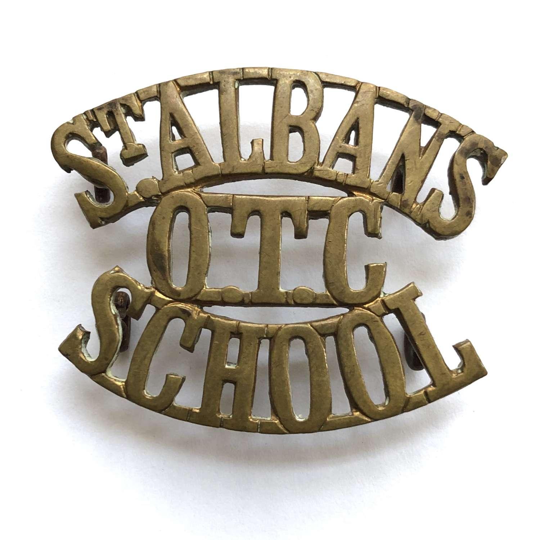 ST.ALBANS / OTC / SCHOOL shoulder title circa 1908-40