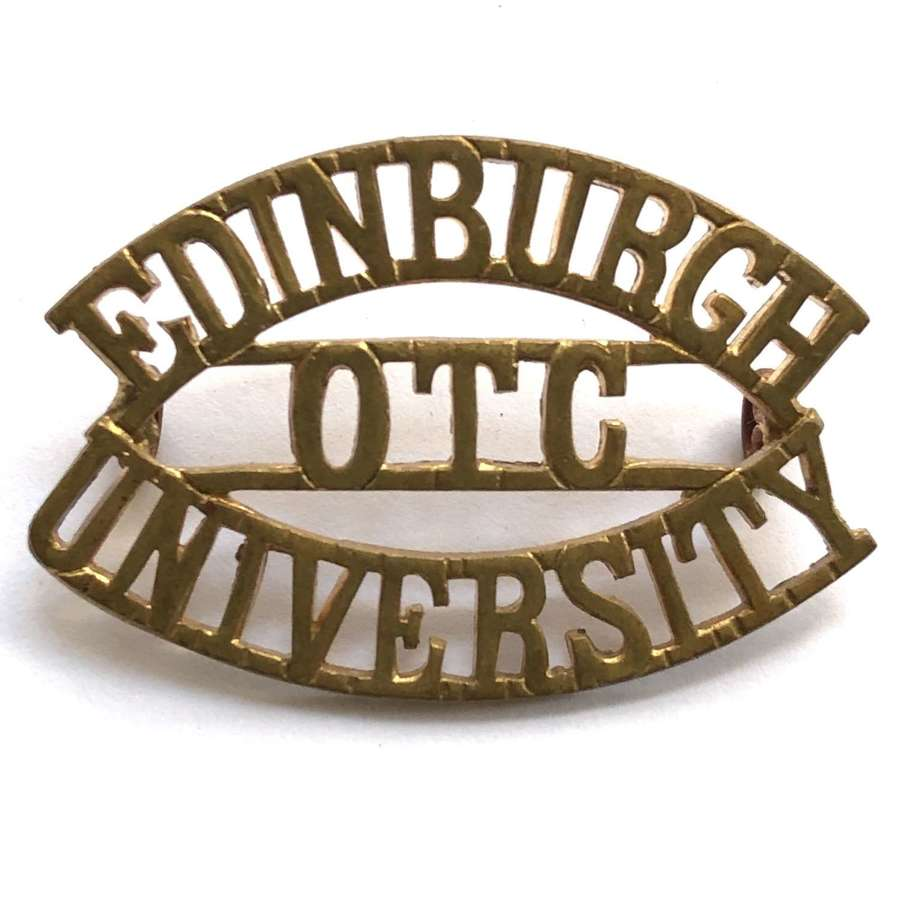 EDINBURCH / OTC / UNIVERSITY shoulder title