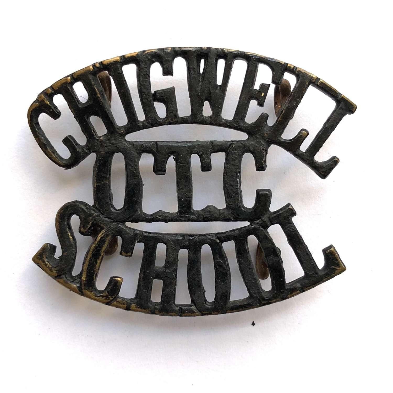 CHIGWELL / OTC / SCHOOL Essex shoulder title