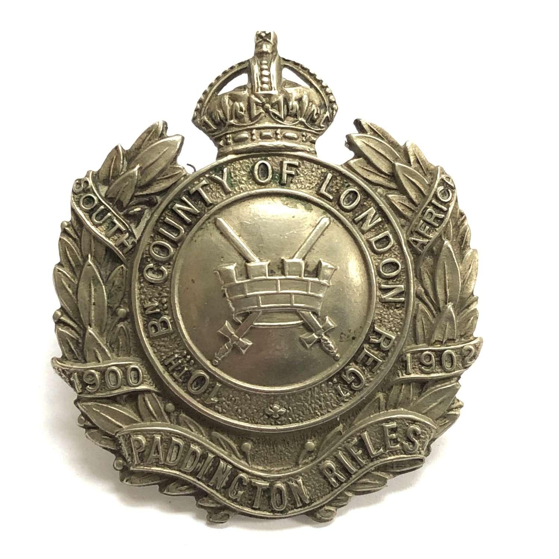 10th London Regiment (Paddington Rifles) cap badge c 1908-12