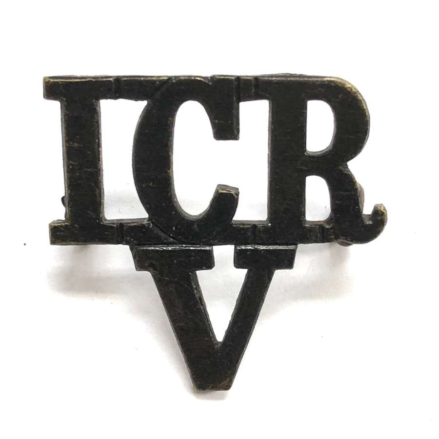 ICR / V 14th Middlesex RV (Inns of Court) pre 1908 shoulder title