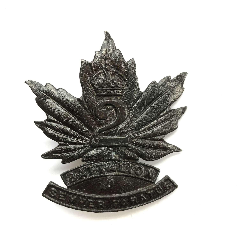 2nd Battalion Canadian Garrison Regiment cap badge