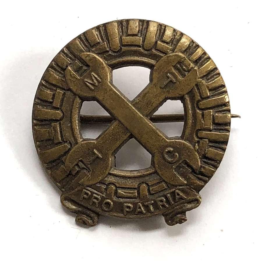 Mechanised Transport Training Corps WW2 Women's cap badge