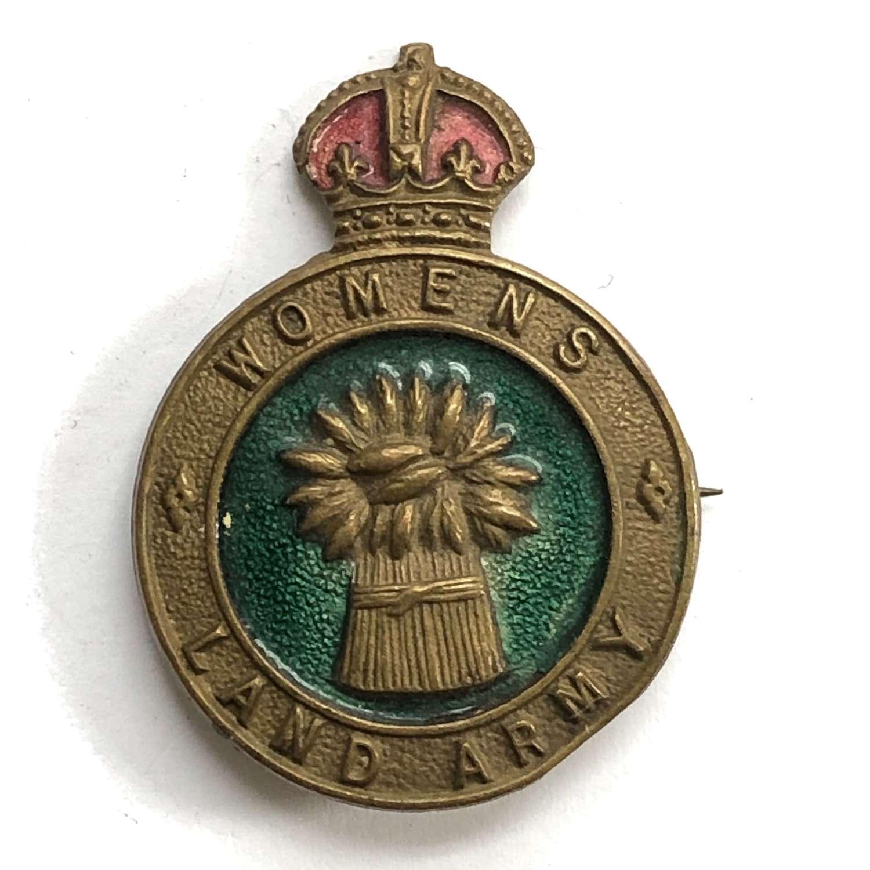 WW2 Womens Land Army WLA hat/uniform badge