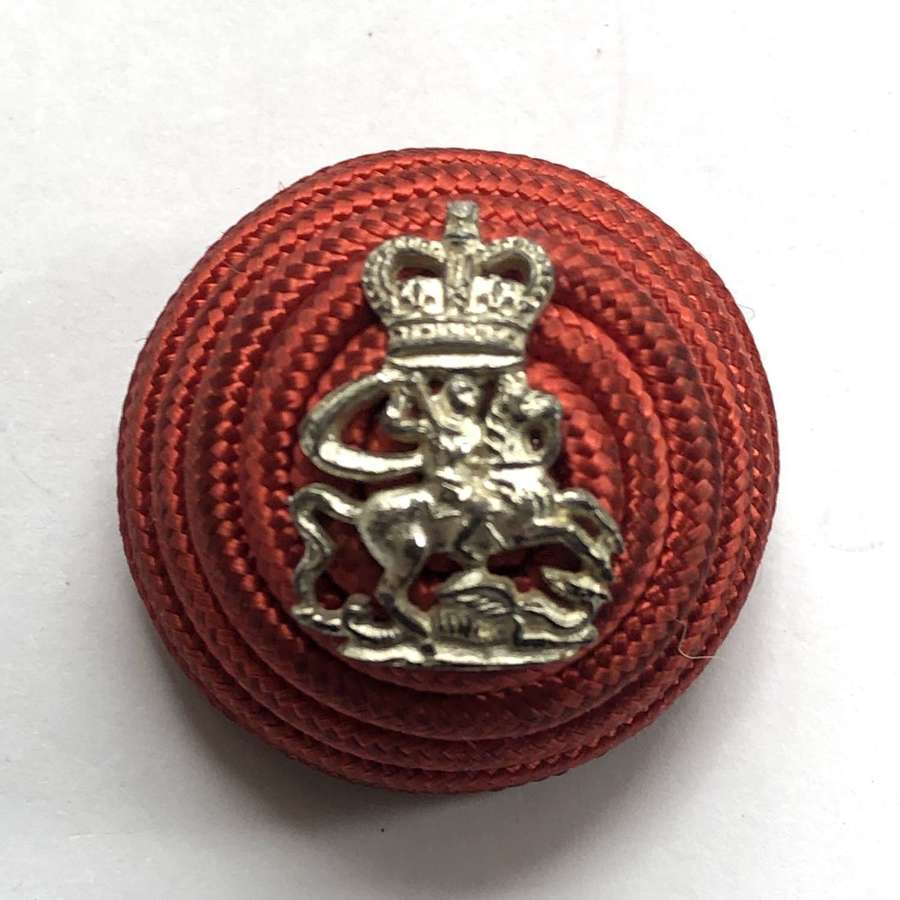 9th London Queen Victoria's Rifles Officer's post 1953 red cord bo
