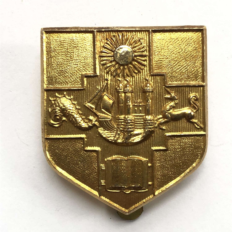Bristol University OTC early anodised cap badge by Grove