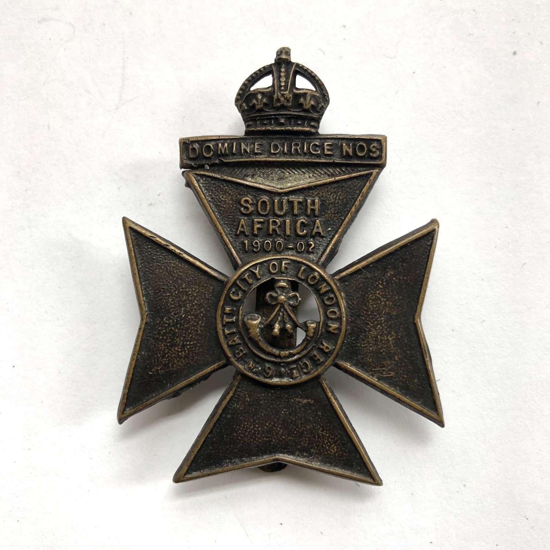 6th City of London Rifles cap badge circa 1908-35