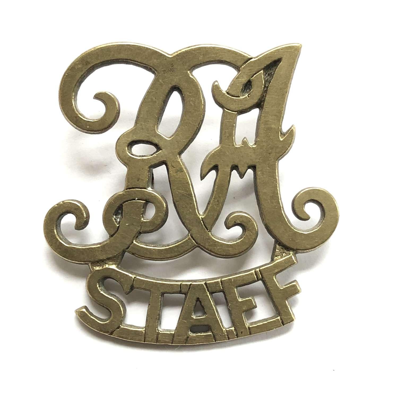 RA / STAFF Royal Artillery badge worn in India