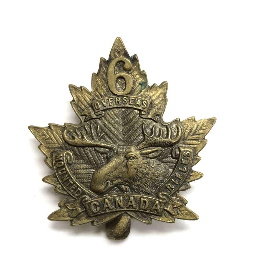 Canadian 6th Mounted Rifles CEF WW1 cap badge