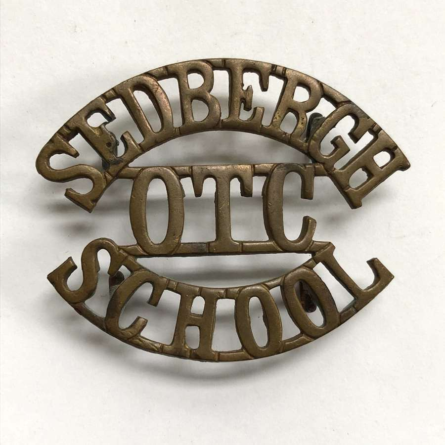 SEDBERGH  / OTC / SCHOOL Yorkshire shouder title title circa 1908-40