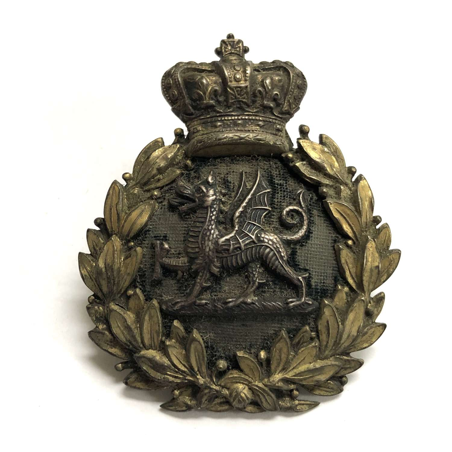 South Wales Borderers Victorian Officer's forage cap badge c1881-96