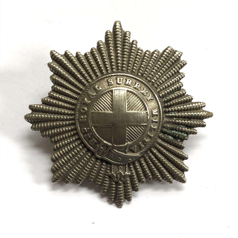 2nd Royal Surrey Militia Victorian glengarry badge circa 1874-81
