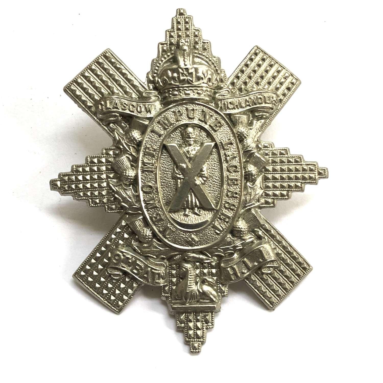 9th Bn. HLI (Glasgow Highlanders) glengarry badge circa 1908-39