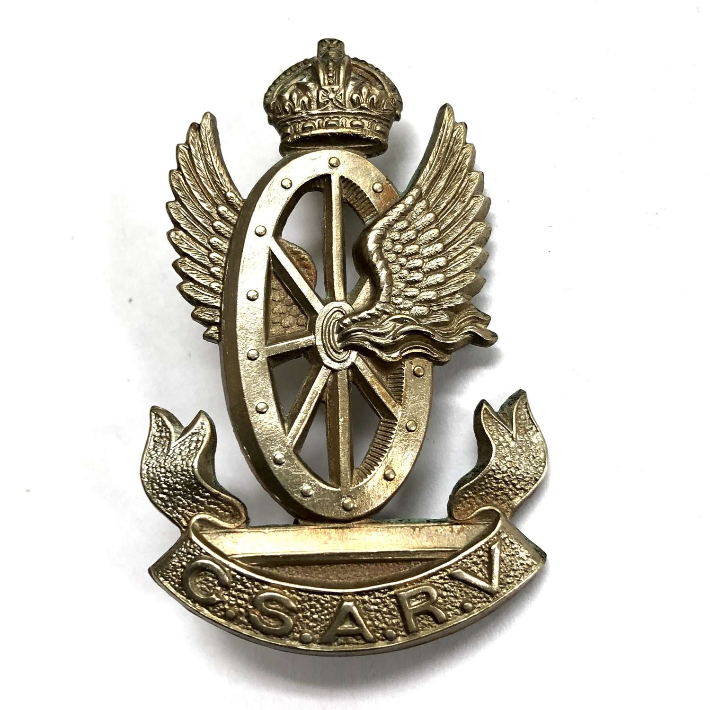 Central South African Railway Volunteers cap badge circa 1902-13