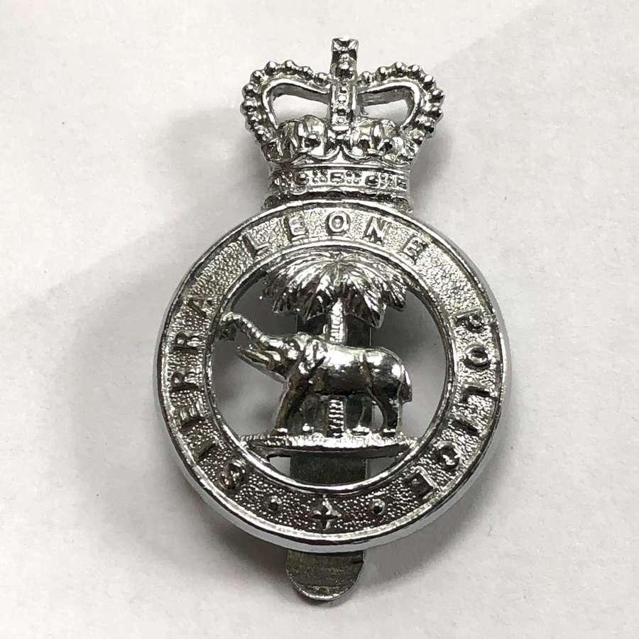 Sierra Leone Police post 1953 cap badge by Firmin, London
