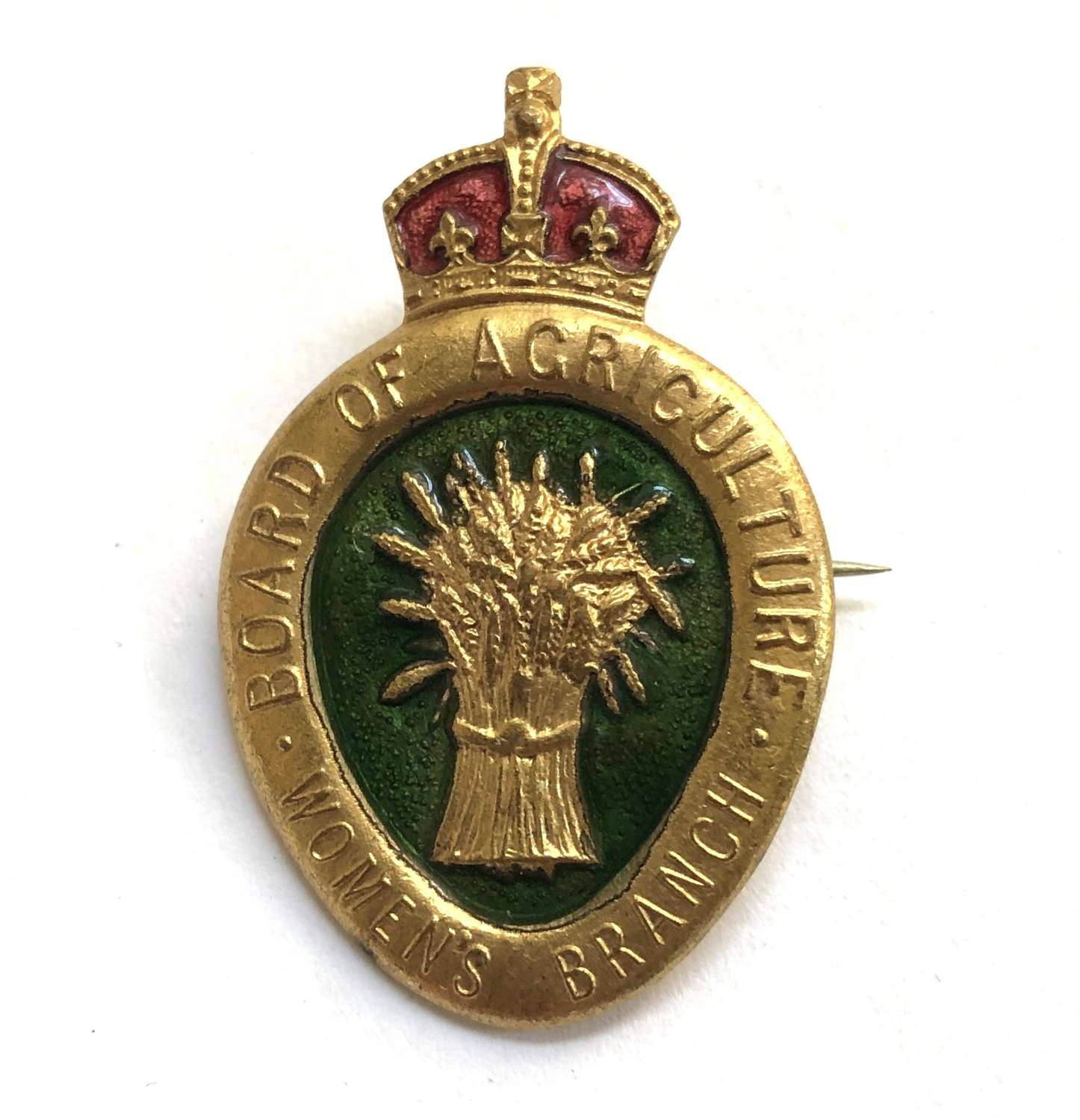WW1 Board of Agriculture Womens Branch land army badge