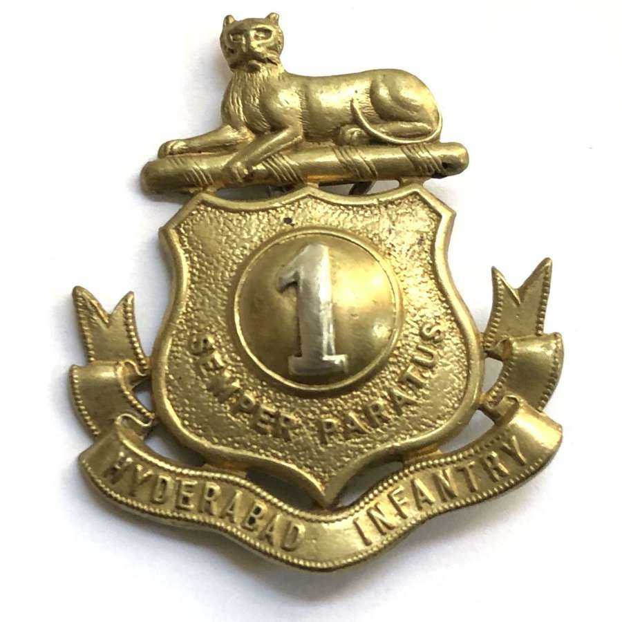 Indian Army. 1st Hyderabad Infantry pagri badge