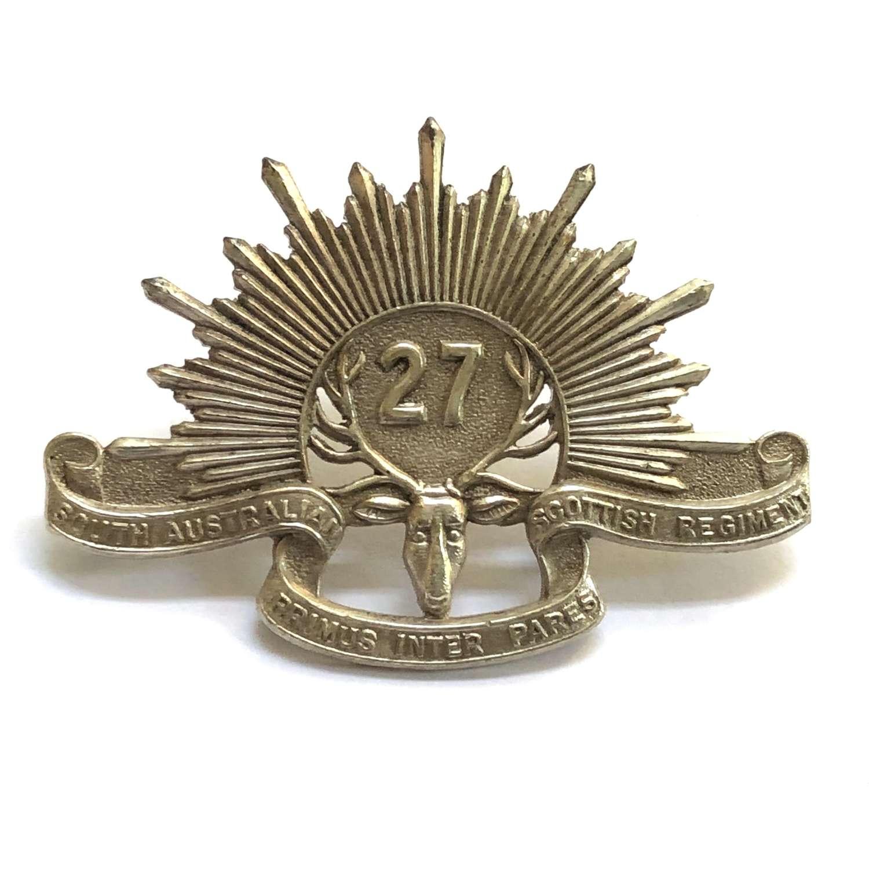27th Australian Infantry Bn (S.Austr Scottish Regt) slouch hat badge