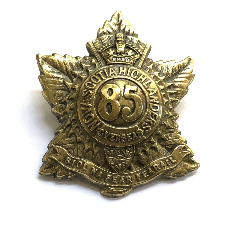 Canadian 85th (Nova Scotia Hldrs) CEF glengarry badge