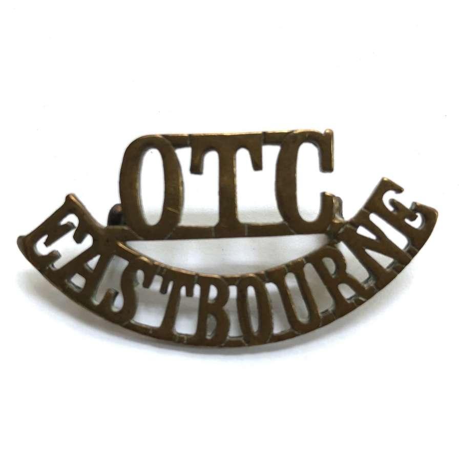OTC / EASTBOURNE Sussex shoulder title circa 1908-40