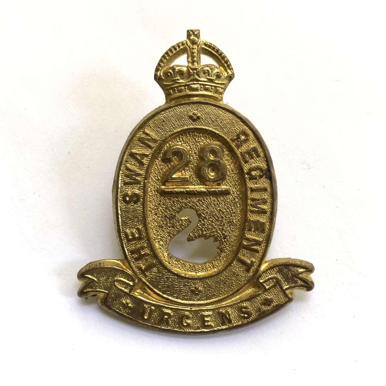 28th Australian Infantry Bn (Swan Regiment) slouch hat badge c1930-42