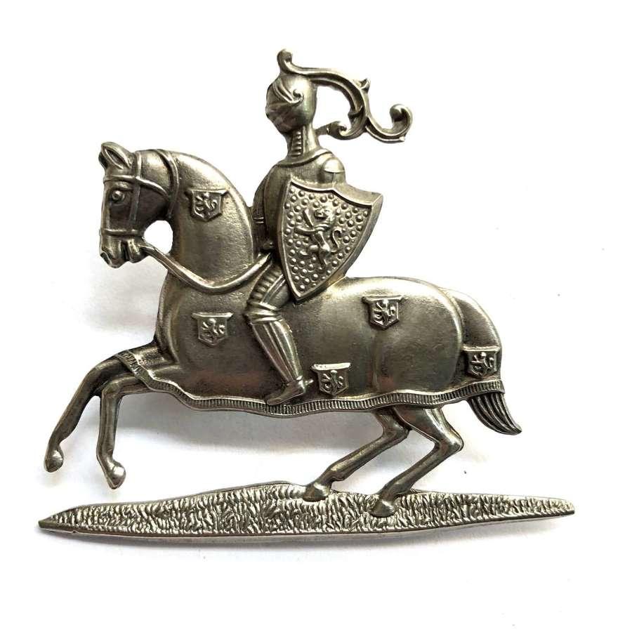 Fife & Forfar Yeomanry NCO's white metal arm badge