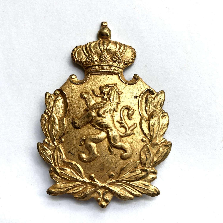 WW1 Belgian Officer's foreign service helmet badge