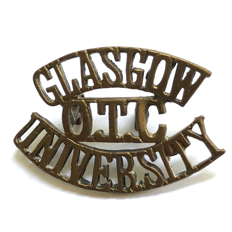 GLASGOW / OTC / UNIVERSITY brass Scottish shoulder title