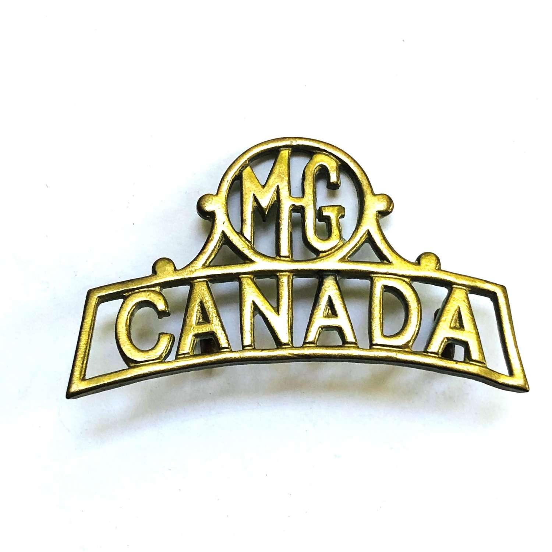 MG /CANADA WW1 brass shoulder title