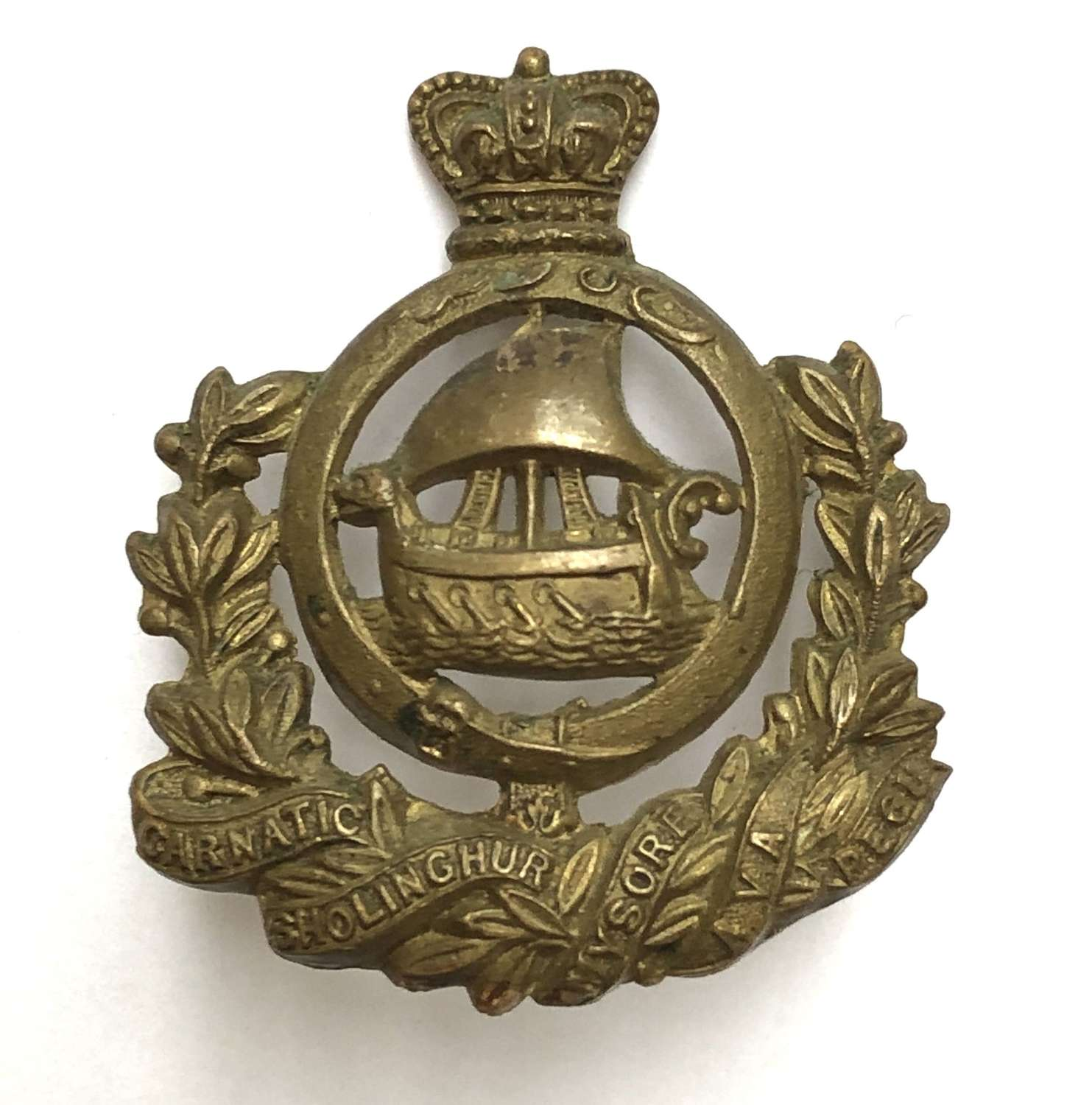 Indian Army Madras Native Infantry head-dress badge