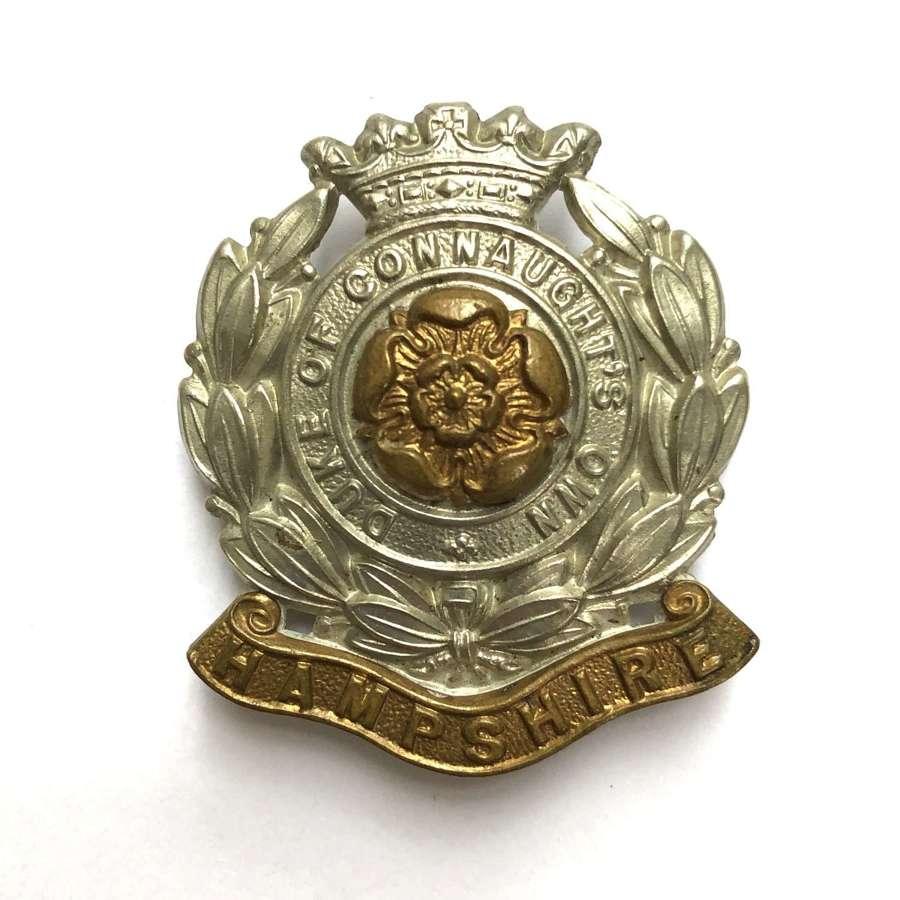 6h Bn. Hampshire Regiment cap badge circa 1908-38