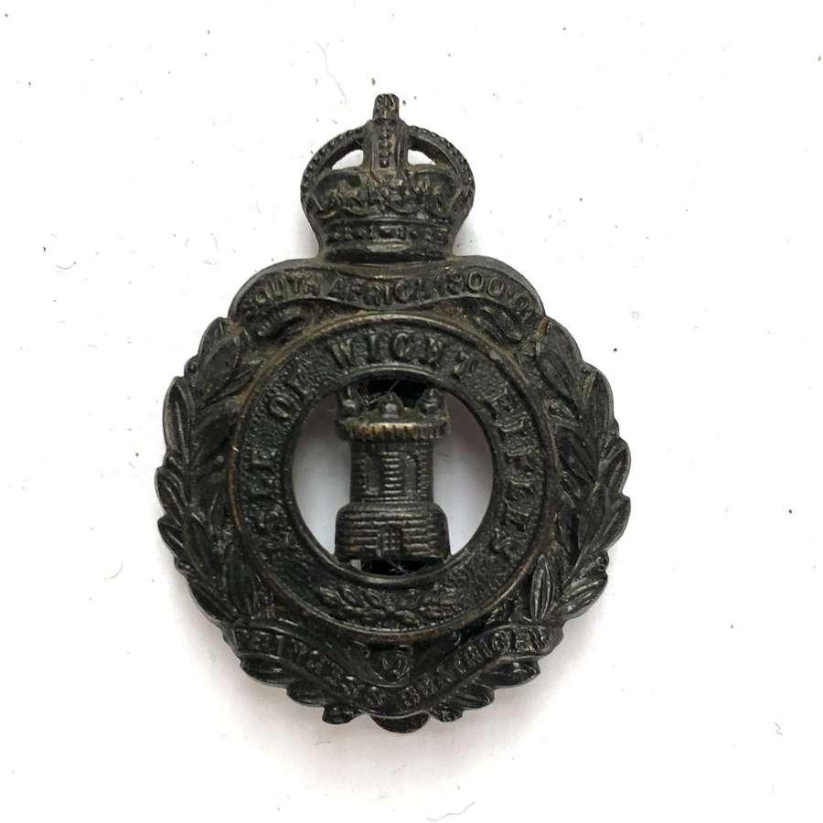 Isle of Wight Rifles post 1908 cap badge