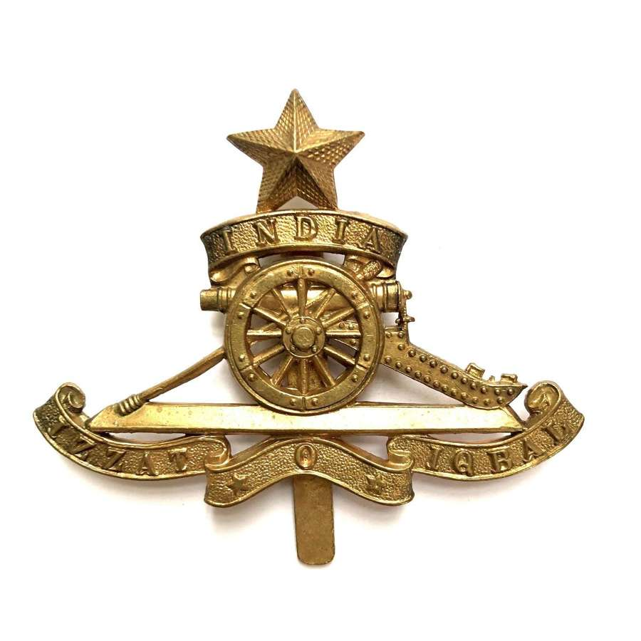 Royal Indian Artillery cap badge circa 1921-47