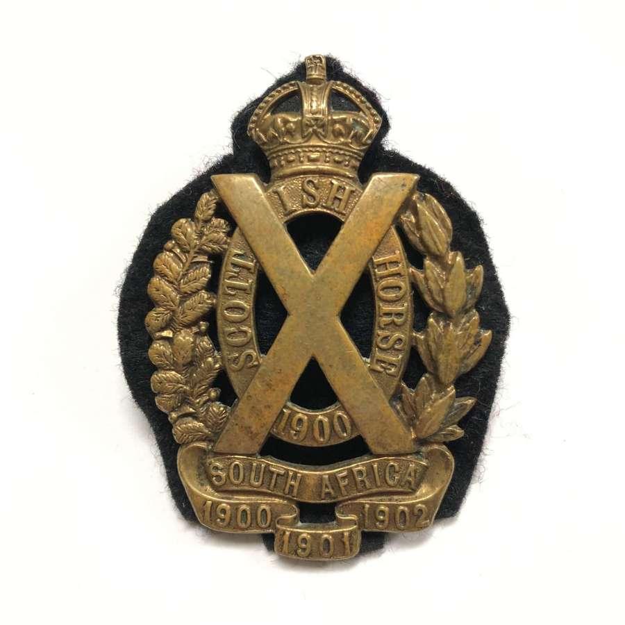 Scottish Horse post 1908 NCO's arm badge