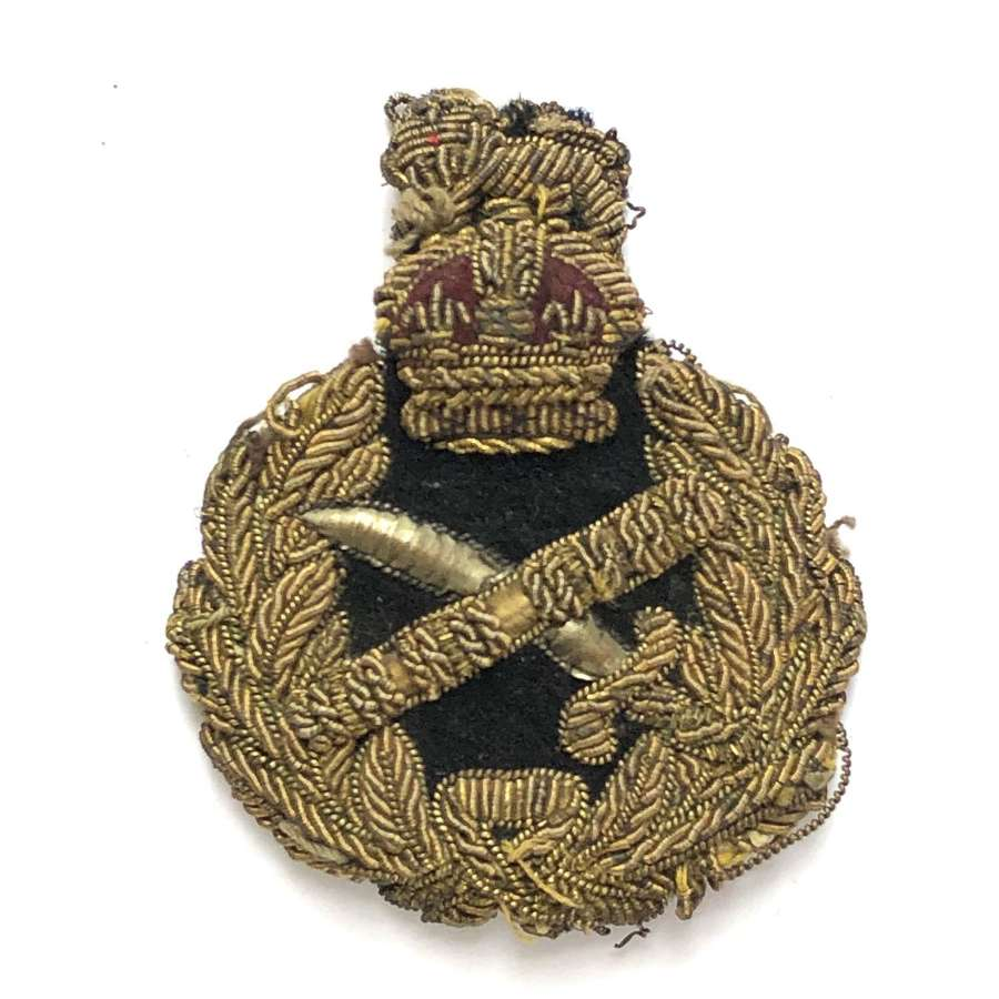 General's bullion cap badge circa 1901-52