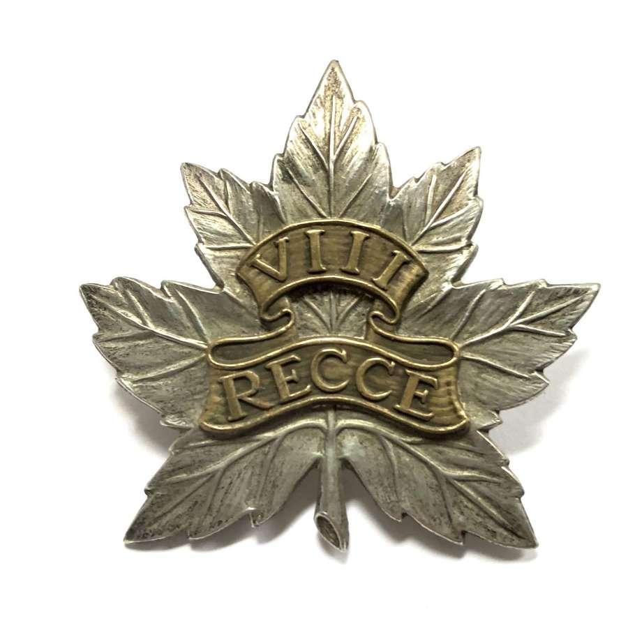 Canadian 8th Reconnaissance Regiment WW2 cap badge
