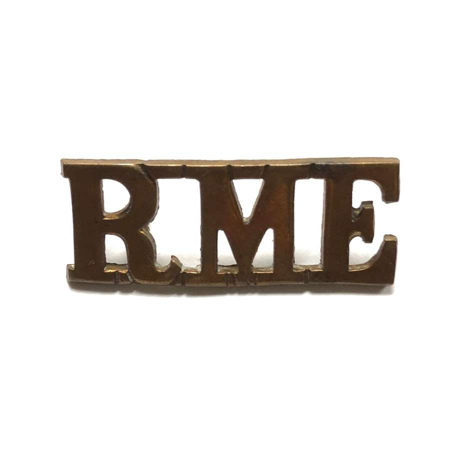 RME WW1 Royal Marine Engineers Officer's shoulder title c1917-18