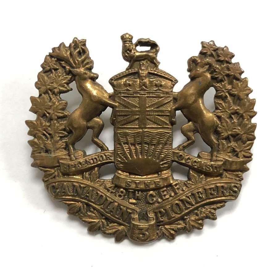 Canadian 3rd Pioneer Battalion CEF WW1 cap badge